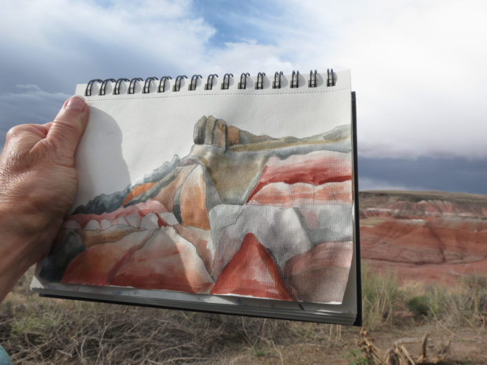 Petrified Forest Watercolor Sketch