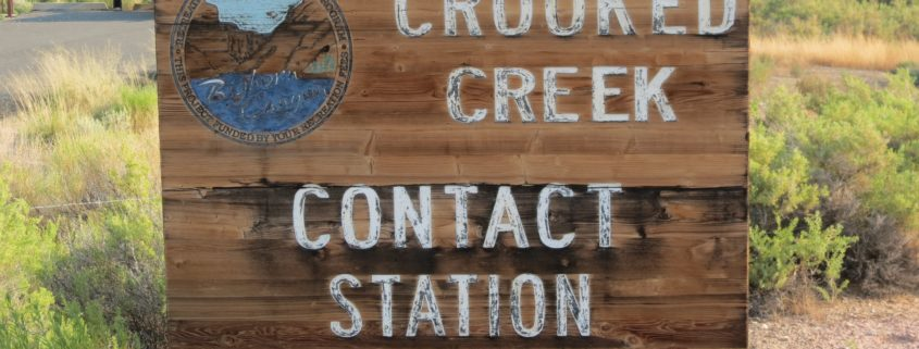 Crooked Creek Contact Station Sign